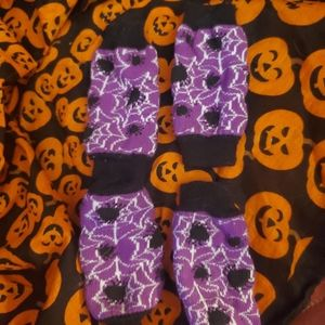 Small doggies Halloween leg warmers / goth🐕 allx